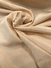 Hardy Designer Curtain Fabric MOIRE SETA Melrose Calico PANNA 13 Metro Rotolo