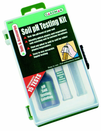 adapté pour tous types de sols Gardman Sol pH Test Kit Dure Jusqu/'À 15 tests
