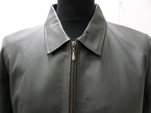 No Womens Leather Z460 Grey Vntg Good Pelle Good Sku Size Jacket 44