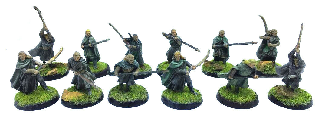 The Lord of the Rings - Wood Elf Warriors - 28mm - Painted