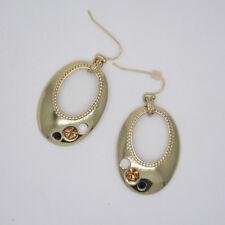 "NEW DEMO $34 LIA SOPHIA /""BALI/"" GOLDTONE DANGLE EARRINGS 2011"