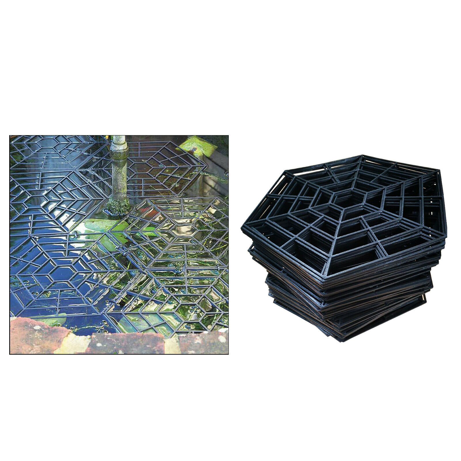20pcs Fish Guard Grid Protective Floating Net Pond Protector Garden Supplies