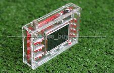 "Clear Acrylic Case box Shell FO DSO138 2.4"" TFT Digital Oscilloscope Oszilloskop"