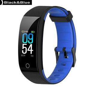 CB501H-Smart-Bracelet-Sports-Wristband-Fitness-Tracker-BT4-0-Black-amp-Blue