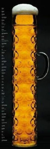 DOOR SIZE POSTER 21X62 DRINKING GERMANY 1717 OKTOBERFEST BEER STEIN