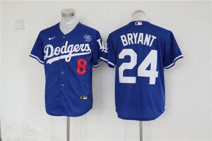 Men's Los Angeles Dodgers #24 Kobe Bryant Blue KB Patch MLB Cool ...