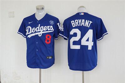 Men's Los Angeles Dodgers #24 Kobe Bryant Blue KB Patch MLB Cool Base Jersey   eBay