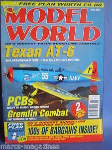 RCMW-RC-MODEL-WORLD-JUNE-2004-NOTHING-XTRA-PLANS-TEXAN-AT6-IAN-MASON-ACACIA-3M