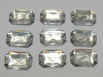 100 Flatback Acrylic Square Sewing Rhinestone Beads 13X18mm Pick Your Color