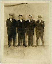 Photo Vintage Gangster Bertillon identification Policière Police Usa Vers 1930