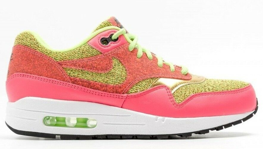 130 New NIKE Sneaker WMNS AIR MAX 1 1 1 SE Size 6 Green Pink gold 881101-300 2e43a2