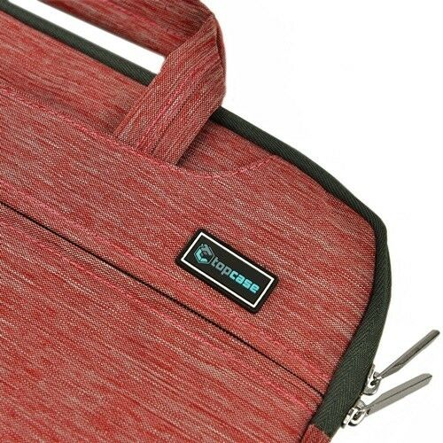 "Red Nylon Lycra Fabric Sleeve Briefcase for All 11/"" Macbook Air Chromebook"