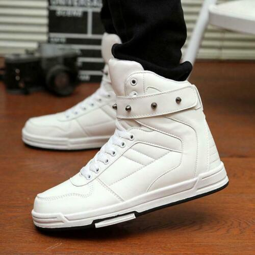 Korean Style Men/'s Chic High Top Sneakers shoes Ankle Boots Casual Shoes 4 Color