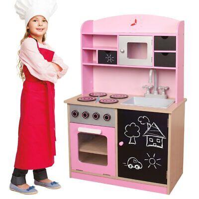 Cucina Legno Giocattolo per Bambini con Anta e Cassetti Lavagna 60 x 30 x 90 cm | eBay