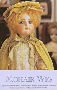 ~ How To Make A MOHAIR Wig for BISQUE DOLL ~ Vintage Style ~ INSTRUCTIONS.