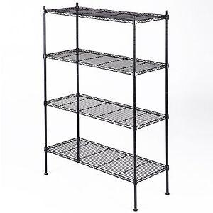 """55""""x36""""x14"""" Heavy Duty 4 Tier Layer Wire Shelving Rack Steel Shelf Adjustable"""