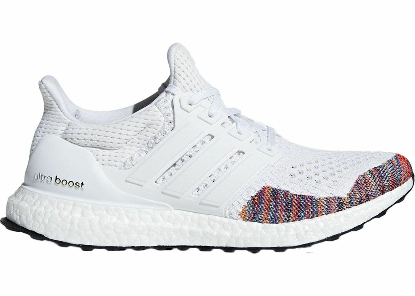 Mens Adidas Ultra Boost 1.0 Retro Weiß Multi Farbe Toe BB7800