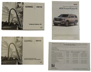 2015 gmc yukon yukon xl us owners manual book w warranty book new rh ebay com 2003 yukon xl manual 2007 yukon xl manual