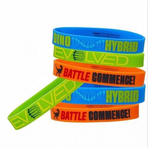 Jurassic World Rubber Bracelet Dinosaur Party Supplies Favours Wristbands 4pk