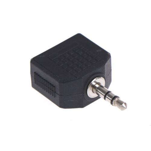 3,5 mm Splitter Mono Adapter Stecker 2 Buchse zu 1 Stecker für mobile Compute ia