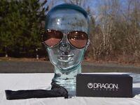 2016 Mens Dragon Status Sunglasses $120 Rose Gold Ion Protective Black Bag