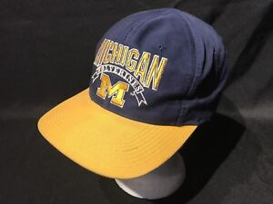 low cost 37dd3 f70ec Image is loading VINTAGE-MICHIGAN-WOLVERINES-NCAA-THE-GAME-SNAPBACK-HAT-