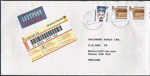 Juste Allemagne (ouest). Registered Airmail Cover Au Royaume-uni. Castle-afficher Le Titre D'origine