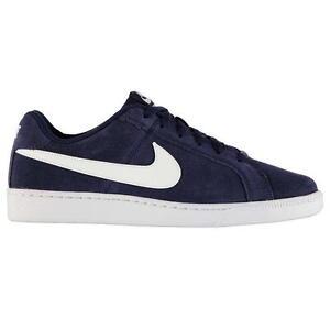 Nike-Hombre-Court-Royale-Gamuza-Entrenadores-Nike-Tribunal-Zapatos-De-Gamuza-Azul-Marino