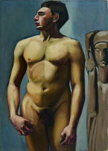 Tamara De Lempicka Male Poster Reproduction Paintings Giclee Canvas Print