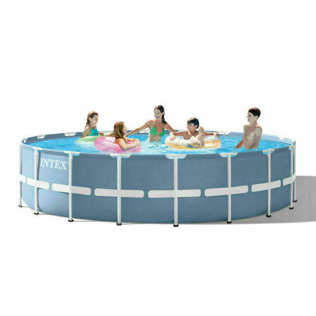 Intex Prism Frame Round 18 Foot X 48 Inch Pool Set With Filter For Sale Online Ebay