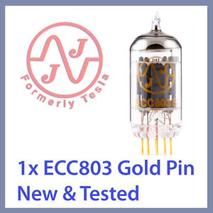 Details about 1x JJ Tesla ECC803S 12AX7 ECC803 Gold Pin Vacuum Tube TESTED