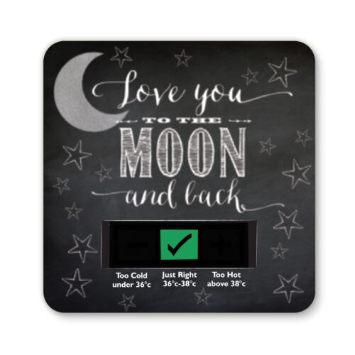 TO THE MOON AND BACK DESIGN BABY BATH THERMOMETER