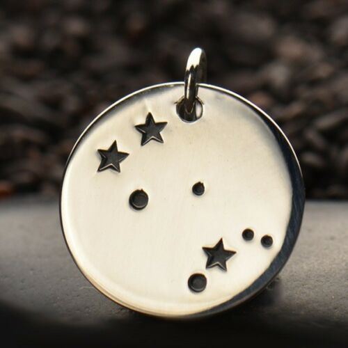 925 Sterling Silver Zodiac Constellation Charm Collier Horoscope tous les signes