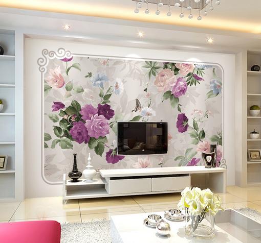 3D lila Flowers 885 Wall Paper Murals Wall Print Wall Wallpaper Mural AU Kyra