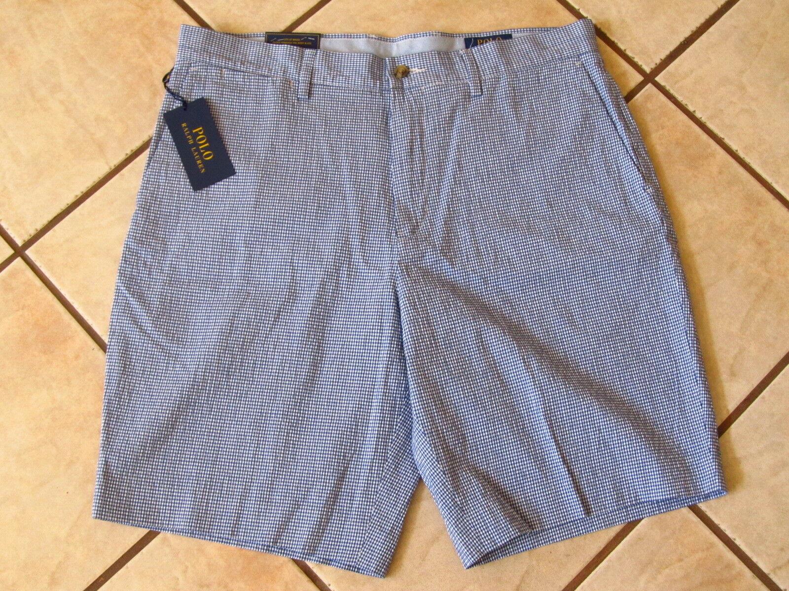 Polo Ralph Lauren Men's bluee White Shorts Stretch Classic Fit Sz 34W NWT