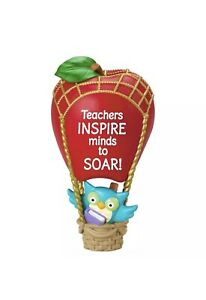 NIB-Hallmark-2016-Thank-You-Teacher-Inspire-Keepsake-Christmas-Ornament-Owl