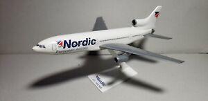 FLIGHT MINATURE NORDIC EUROPEAN L-1011 1:250 SCALE PLASTIC SNAPFIT MODEL