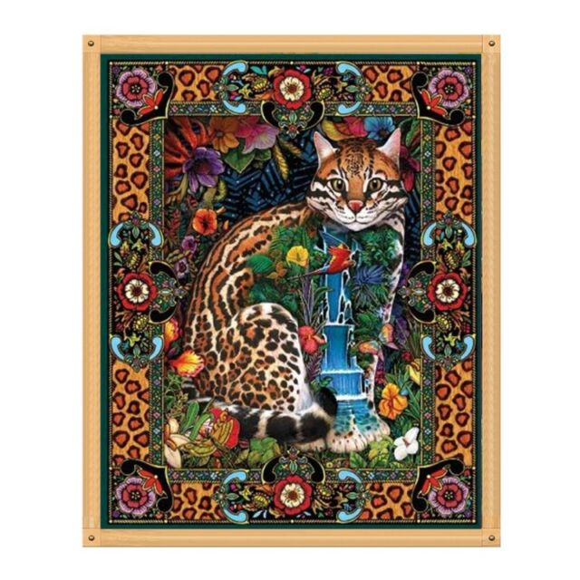 bf435eae43751 Leopard Cat DIY 5D Diamond Painting Embroidery Cross Craft Stitch Kit Home  Decor