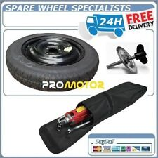 """FORD FIESTA 2008-PRESENT DAY SPACE SAVER SPARE WHEEL 15"""" +TOOLS + RETAINING BOLT"""