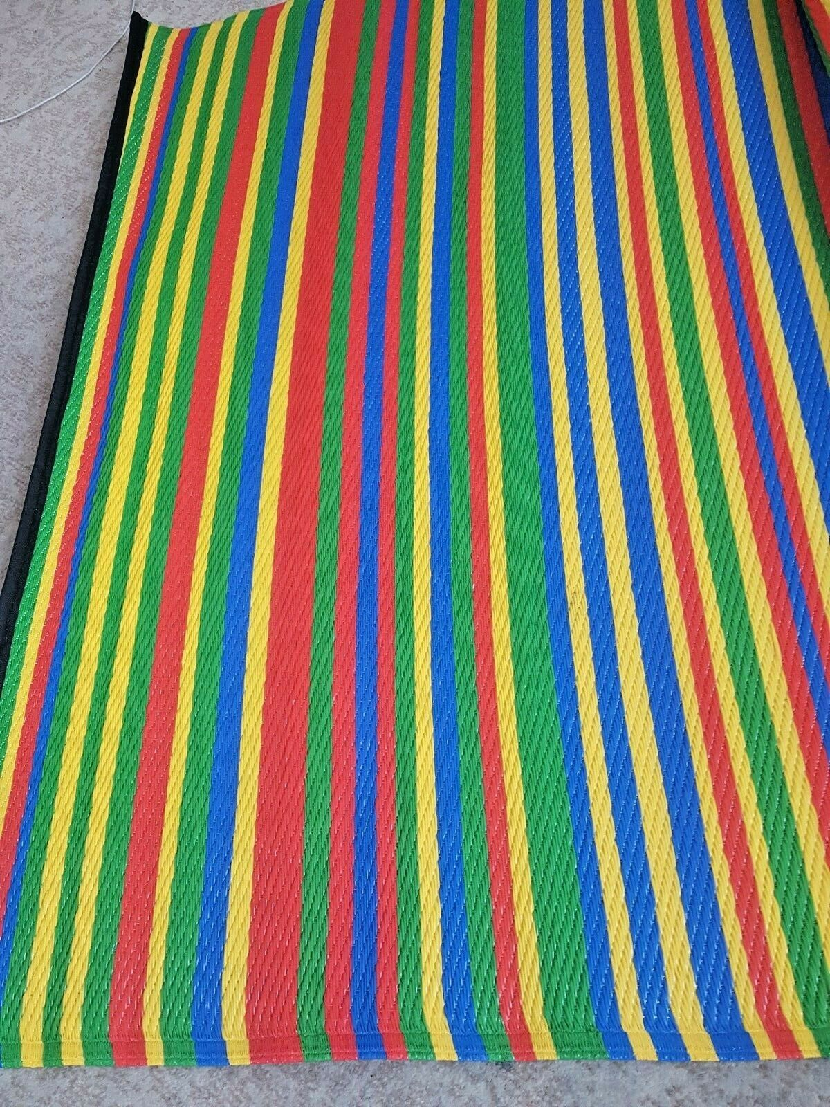 120 x 180cm camping Outdoor Indoor Area -picnic Rug Reversible multi colour New