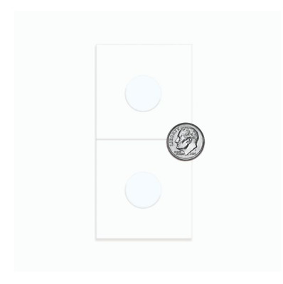 10 BCW Dime Size Paper Flips 2x2 Coin Holders 17.9mm Archival Safe Protection