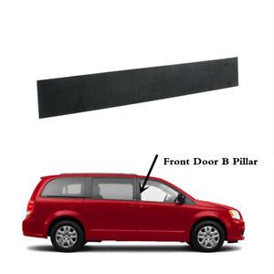 Front Right Passenger Side B-Pillar Door Applique Black Compatible with 2008-2020 Dodge Grand Caravan