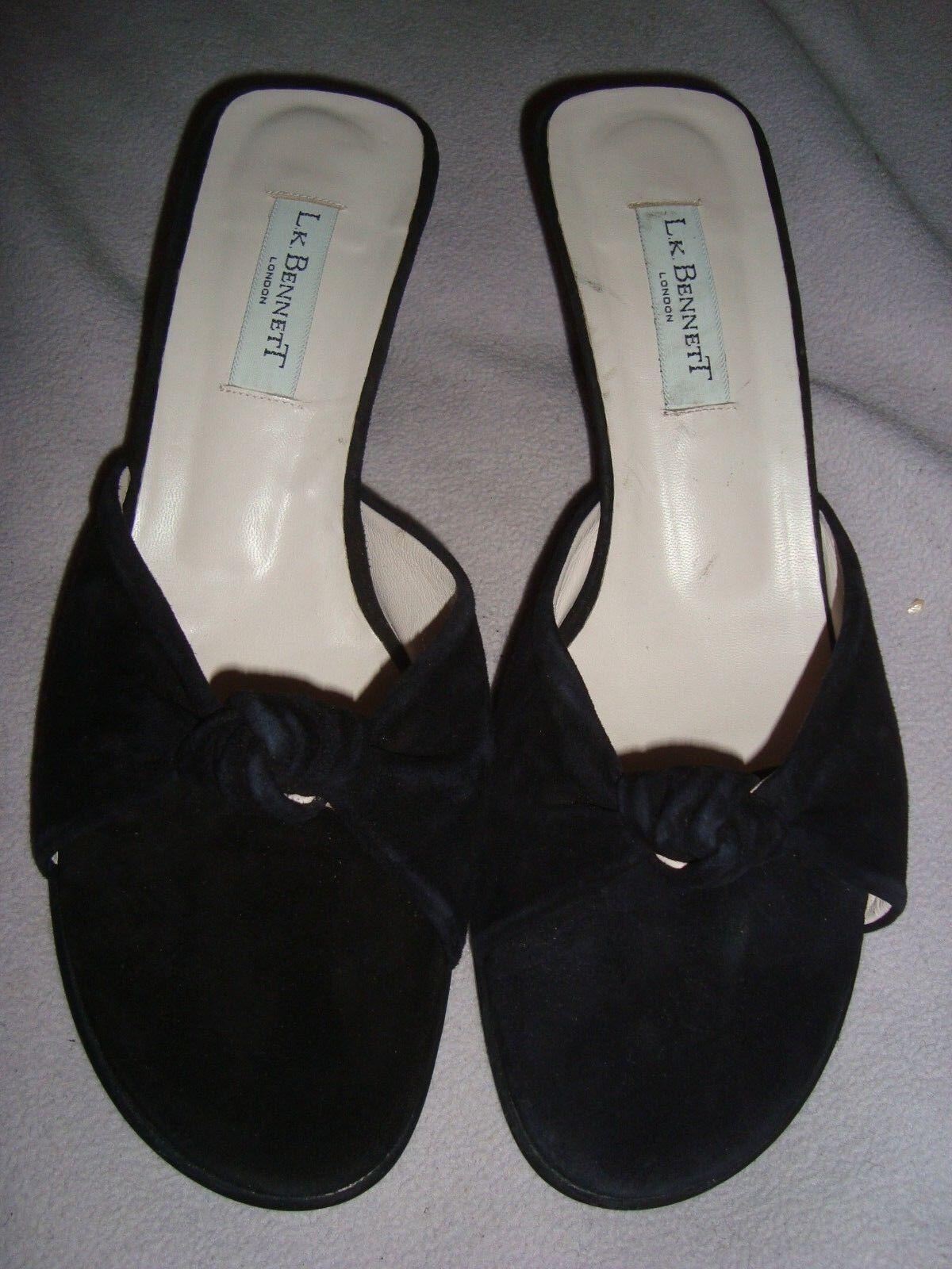 Zapatos de cuero L.K. Bennett Negro Gamuza/ .00