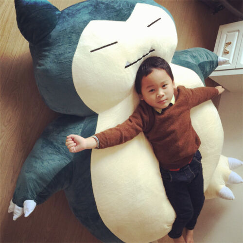 """31/"""" 39/"""" 59/"""" 79/"""" Pokemon Go カビゴン Snorlax Plush Filled Bed Cover Xmas Kid/'s Gift"""