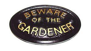 """méfiez-vous du jardinier"" Hangar - Garage - jardin murale signe - plaque objets-NEUF-RDEN WALL SIGN-PLAQUE - BRAND NEW ITEMSafficher le titre d`origine X0XbhhPW-07190839-392412507"