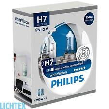H7 + w5w Philips whitevision-intenso Xenon-efecto-duo-Box