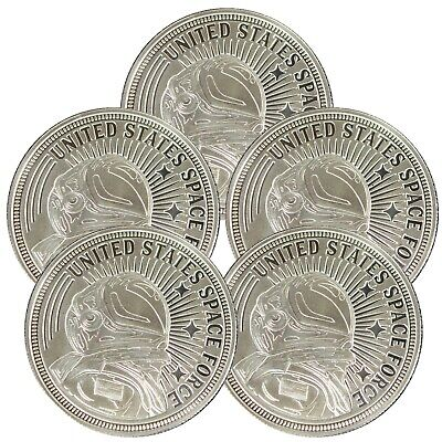 t7s United States Space Force Commemoratve Coin Proof Like 1oz .999 Silver