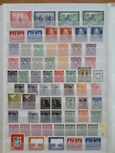 Allied Occupation 1945-1949, All Zones and Sarre, MNH, full page, See details.
