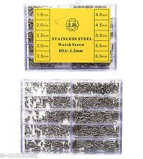 WATCH SCREW VITI VITE OCCHIALI DA SOLE, OROLOGI 1000 PZ MISURE 1,6mm - 6mm