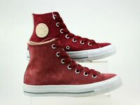 WOMENS CONVERSE CTAS GEMMA HI RED SUEDE HIGH TOP FASHION TRAINERS SIZE 4 FADED
